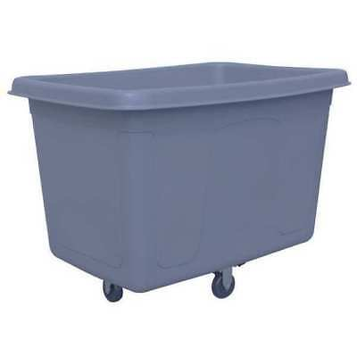 Cube Truck,7/16 cu. yd.,250 lb. Cap,Gray RUBBERMAID 3485209