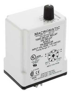 MACROMATIC TR-50228-05 Time Delay Relay,24VAC/DC,10A,DPDT