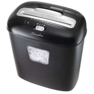 SWINGLINE 1757393 Paper Shredder,Cross-Cut,5 gal.,Blk/Slv
