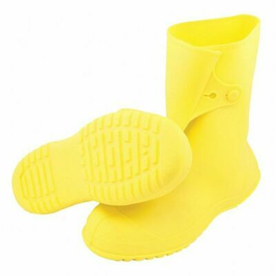 TINGLEY 35123 Overboots, Mens, M, Button Tab, Yllw, PVC, 1PR