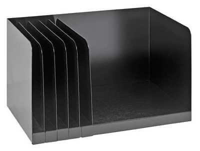 """Buddy Products Book Rack 6 Compartments, 15""""W x 9-1/4""""D Black, 0570-4"""