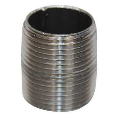 "4"" NPT Threaded Black Close Pipe Nipple, 117801"