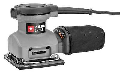 PORTER CABLE 380 Sander, Palm Grip, 2 Amps, 1/4 In Sheet