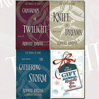 Wheel of Time Series4 Collection With Gift Journal 3 Books Set(Knife Of Dreams)
