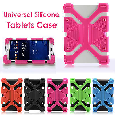 """Shockproof Silicone Rubber Gel Case Cover For 7"""" 8"""" 9"""" 10"""" 11"""" 12"""" Tablet PCs"""