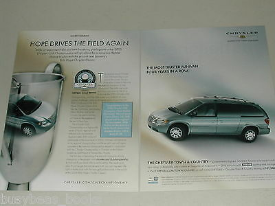 2005 Chrysler 2-page ad, Chrysler Town & County, Golf