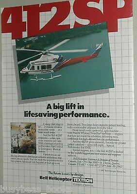 1987 Bell Helicopter ad, Bell 412SP CareFlite EMS