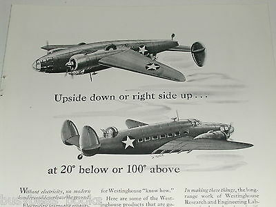1942 Westinghouse ad, Lockheed Hudson components