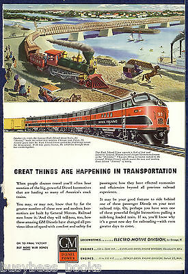 1945 General Motors Diesel advertisement, ROCK ISLAND EMD FT 99