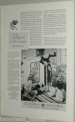1931 General Electric ad, GE Refrigerator, early monitor-top fridge