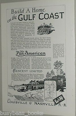 1926 Louisville & Nashville RR advertisement, Crescent Limited, Gulf Coast