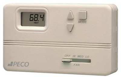 PECO TB158-100 Fan Coil Thermostat,Electronic,Digital