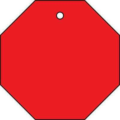22CM94 Blank Tag, 2 x 2In, Red, PK 10