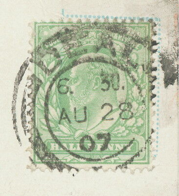 """2404 """"DEAL / +"""" double ring 26 mm extremely rare probably UNIQUE POSTMARK-ERROR"""