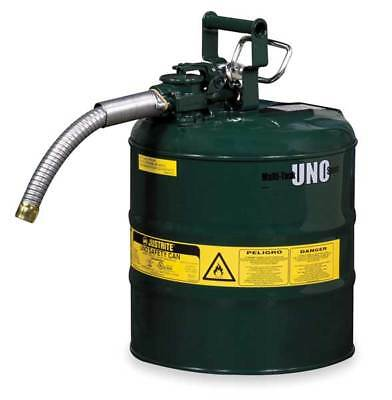 JUSTRITE 7225430 Type II Safety Can, 12 In. H, Green