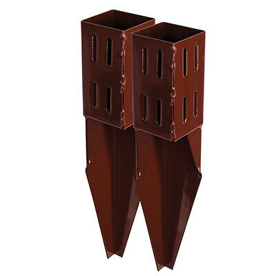 X2 3 inch Spike Wedge Grip Fence Post Supports 75mm Timber Holder Repair Spikes