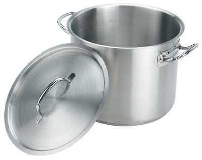 CRESTWARE SSPOT20 Stock Pot w/Cover, 20 qt, 13-1/2 In., SS