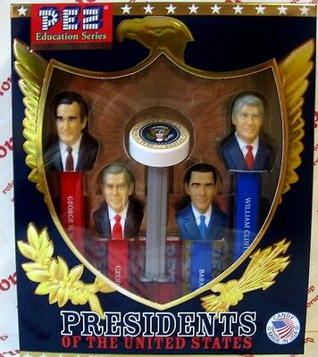 PEZ Volume IX Presidents PEZ dispensers Gift Boxed with 6 packs of PEZ Candy