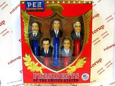 PEZ Volume VI Presidents PEZ dispensers Gift Boxed with 6 packs of PEZ Candy