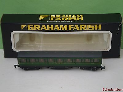 Graham Farish N Gauge Boxed Sr Green Mainline Coach #3