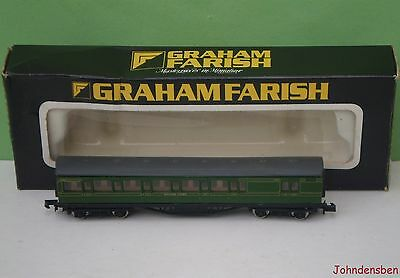 Graham Farish N Gauge Boxed Sr Green Mainline Brake End Coach #4