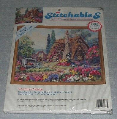 Dimensions Stitchables Country Cottage Crewel Embroidery Kit 72137 Nip Sealed