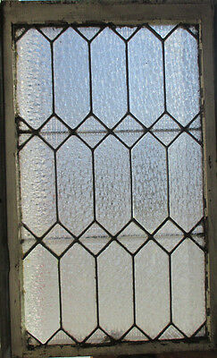 ANTIQUE AMERICAN STAINED GLASS WINDOW 22 x 34 3 OF 3 ~ ARCHITECTURAL SALVAGE ~