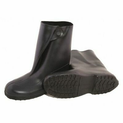 TINGLEY 1400 Overboots, Mens, 2XL, Button, Blk, Rubber, 1PR