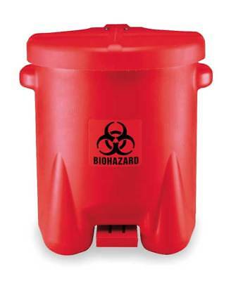 Biohazard Step On Waste Container,Red EAGLE 947BIO
