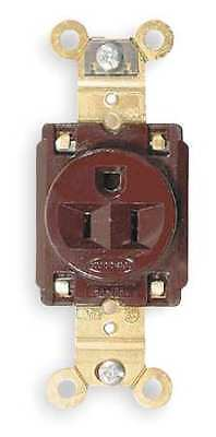 HUBBELL WIRING DEVICE-KELLEMS HBL5261 15A Single Receptacle 125VAC 5-15R BN