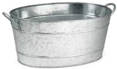 Tablecraft Products Company Oval Beverage Tub, 710 oz. Galvanized Steel, BT1914