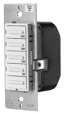 LEVITON LTB30-1LZ Preset 5-Button Timer Switch,30 Minute