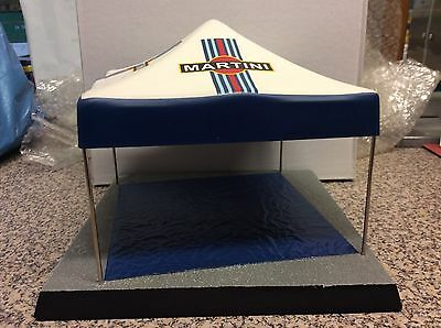Martini Livery Rally Service Diorama Tent And Base, Focus Wrc, Lancia Delta Etc.