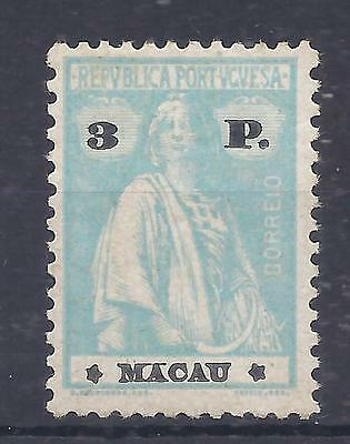 Macao 1919 Ceres perf 12x11.5 3p hinged mint