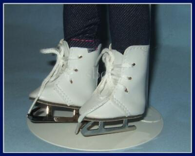 "White 2"" x 15/16"" Doll ICE SKATES Shoes fit 14"" TONI Besty McCall  U.SSHIPS FREE"