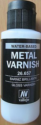 Vallejo Val26657  Acrylic Gloss Metal Varnish (60ml)