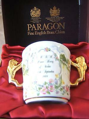 PARAGON Fine Bone China COMMEMORATIVE Loving Cup PRINCE HARRY Henry BIRTH 1984