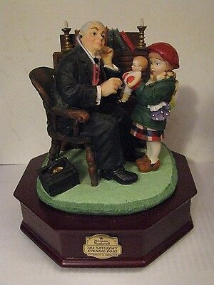 Norman Rockwell Doctor and the Doll San Francisco Music Box Spoonful of Sugar