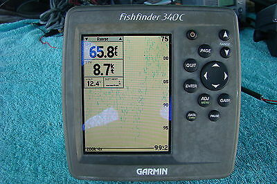 garmin fishfinder 250c,used/w/transom ducer/power cord/cover, Fish Finder