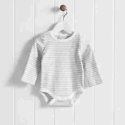 The Little White Company Cloud Striped Bodysuit 18-24 mth NEW