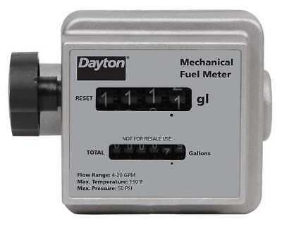 "6"" 6 Mechanical Flowmeter, Dayton, 40M287"