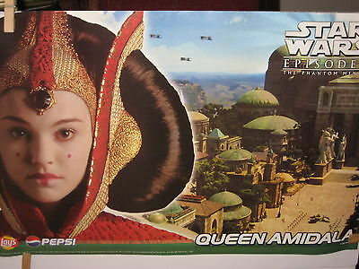 "1999 Star Wars Princess Amidala Posters-Lot Of 3 Same-17"" X 11""-Lays Pepsi Promo"