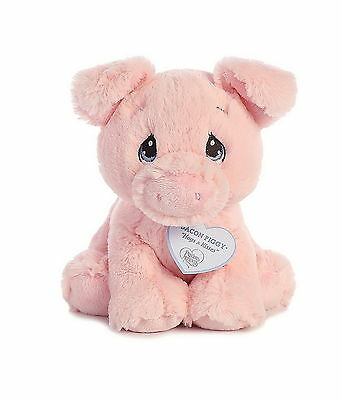 Aurora Precious Moments Bacon Piggy 8 Inch Stuffed Plush Animal