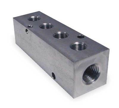 PNEUMADYNE INC M20-250-4-SS Manifold, Stainless Steel, NPT, 3-7/8 In. L