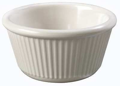 Bone Fluted Ramekin, Bone ,Carlisle, S28742