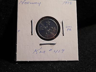 Norway:  1978  25 Ore  Coin     (Unc.)  (#3567)  Km# 417