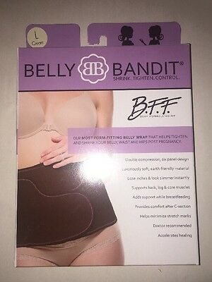 New- Belly Bandit B.F.F- Post Pregnancy Belly Band - Cream/Nude- Large
