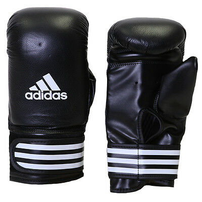 Adidas Performance Leather Boxing Bag Gloves - Black