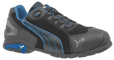 PUMA SAFETY SHOES 642755 Athletc Style Work Shoes, 11W, Blk/Blue, PR