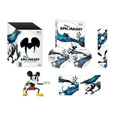 Disney Epic Mickey - Collector's Edition [Nintendo Wii, NTSC, Limited Rare] NEW